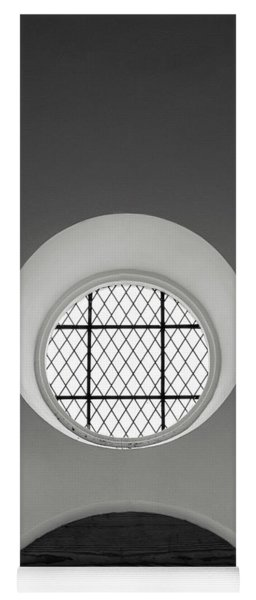 Church Window In Black And White Yoga Mat