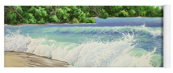 Yoga Mat featuring the painting Churning Sand  by William Love