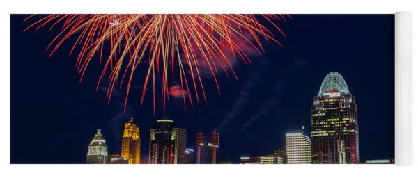 Cincinnati Fireworks Yoga Mat
