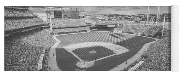 Cincinnati Reds Great American Ballpark Creative 6 Black White Yoga Mat