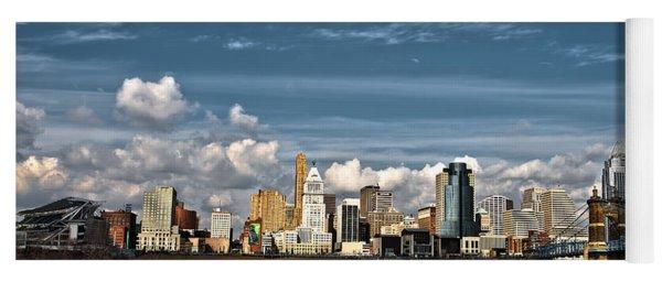 Cincinnati Skyline Hdr Yoga Mat
