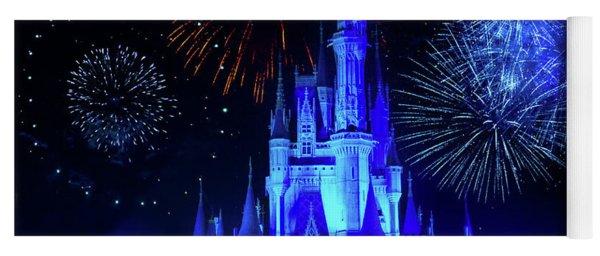 Cinderella Castle Fireworks Yoga Mat