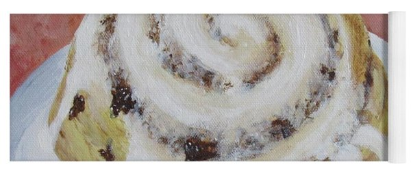 Yoga Mat featuring the painting Cinnamon Roll by Nancy Nale