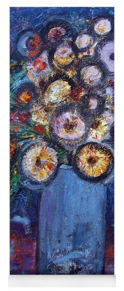 Circle Of Flowers Yoga Mat