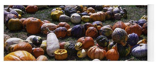 Circle Of Gourds Yoga Mat