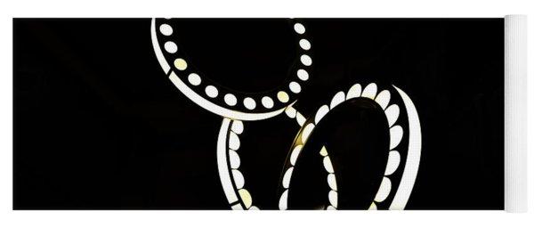 Circles Of Light Abstract Yoga Mat