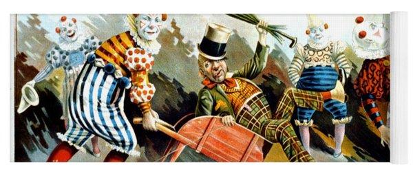 Circus Clowns - Vintage Circus Advertising Poster Yoga Mat