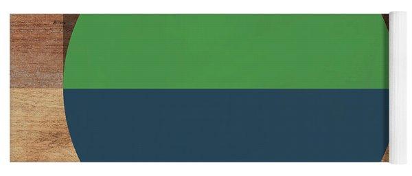 Cirkel Blue And Green- Art By Linda Woods Yoga Mat
