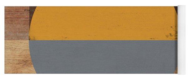 Cirkel Yellow And Grey- Art By Linda Woods Yoga Mat