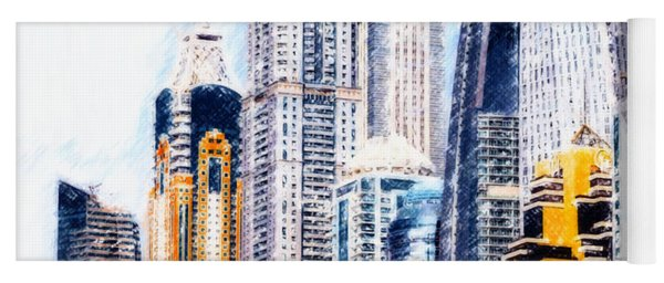 City Abstract Yoga Mat