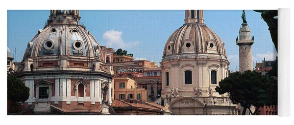 Baroque Churches In Piazza Venezia Rome, Italy Yoga Mat