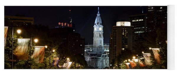 City Hall From The Parkway Yoga Mat
