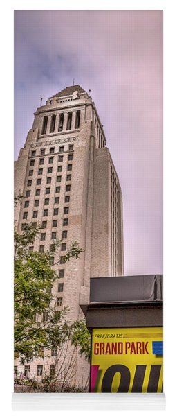 City Hall Seen From Grand Park Yoga Mat