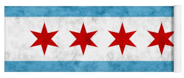City Of Chicago Flag Yoga Mat