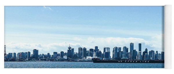 City Of Vancouver From The North Shore Yoga Mat