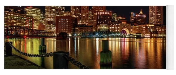 City With A Soul- Boston Harbor Yoga Mat