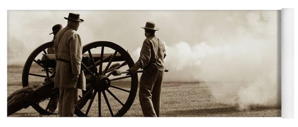 Civil War Era Cannon Firing  Yoga Mat