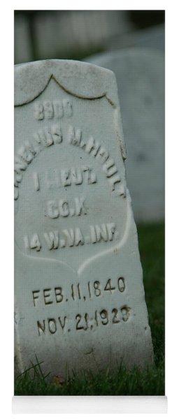 Civil War Gravestone Yoga Mat