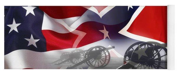 Civil War Silent Cannons Yoga Mat