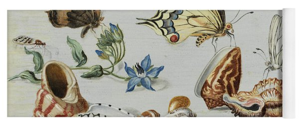 Clams, Butterflies, Flowers And Insects Yoga Mat