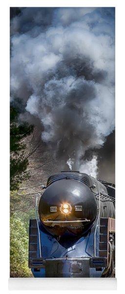 Class J 611 Steam Engine At Ridgecrest Yoga Mat