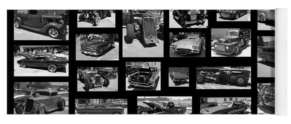 Yoga Mat featuring the photograph Classic Cars And Trucks by Angie Tirado