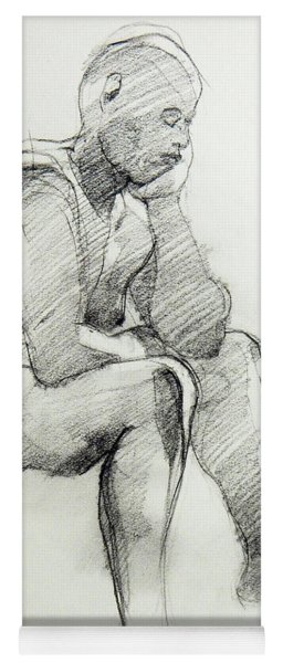Classic Life Drawing Of A Sitting Man Sleeping Yoga Mat