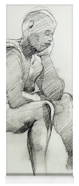 Classic Life Drawing Of A Sitting Man Sleeping Yoga Mat