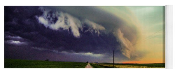 Classic Nebraska Shelf Cloud 024 Yoga Mat