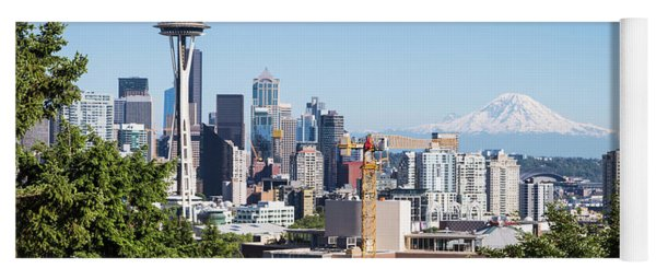 Classic View Of Seattle, Usa Yoga Mat