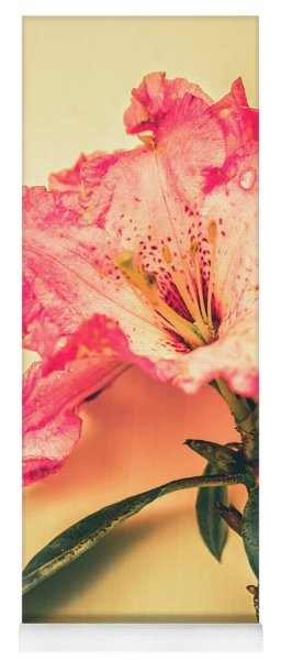 Classical Pastel Flower Clipping Yoga Mat