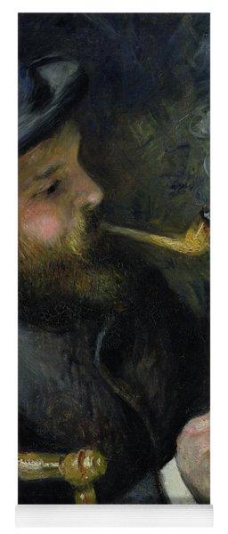 Claude Monet Reading A Newspaper Yoga Mat