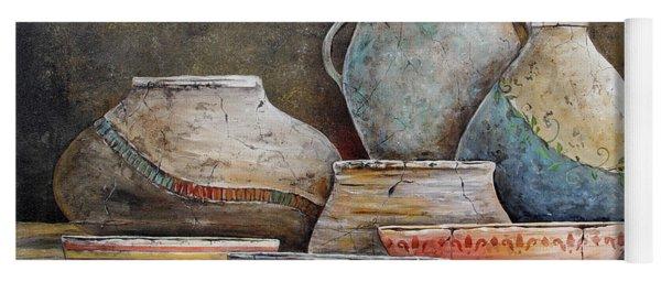Clay Pottery Still Lifes-a Yoga Mat