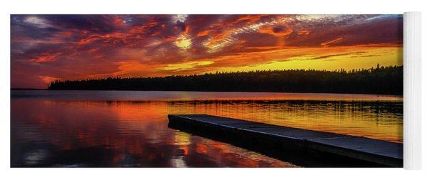 Clear Lake At Sunset. Riding Mountain National Park, Manitoba, Canada. Yoga Mat