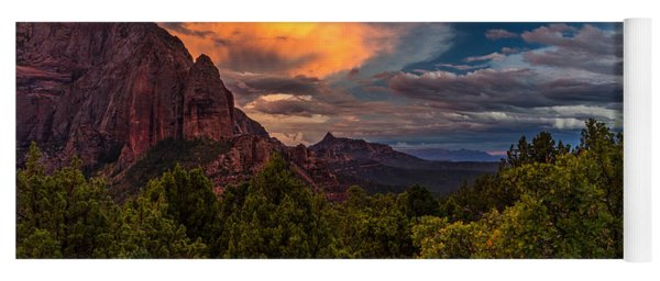 Clearing Storm Over Zion National Park Yoga Mat