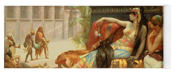 Cleopatra Testing Poisons On Those Condemned To Death Yoga Mat