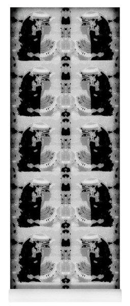 Cleopatra Twins Grayscale Yoga Mat