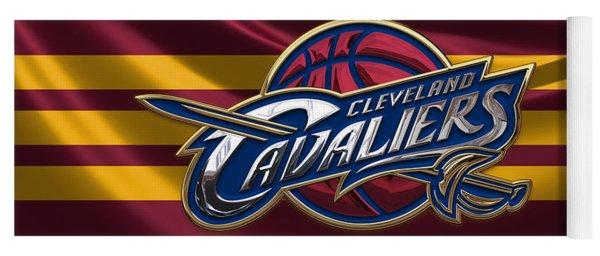 Cleveland Cavaliers - 3 D Badge Over Flag Yoga Mat