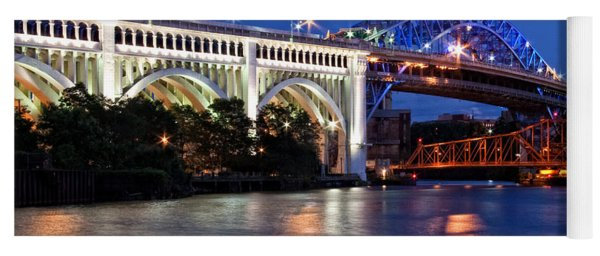 Cleveland Colored Bridges Yoga Mat