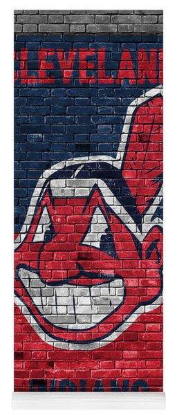Cleveland Indians Brick Wall Yoga Mat
