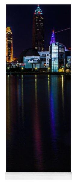 Cleveland Nightly Reflections Yoga Mat