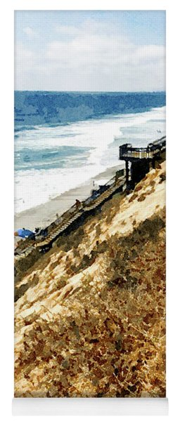 Cliff View - Carlsbad Ponto Beach Yoga Mat