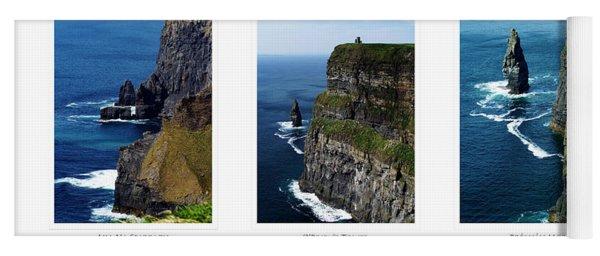 Cliffs Of Moher Ireland Triptych Yoga Mat
