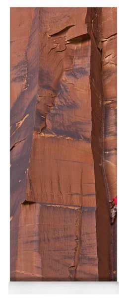 Yoga Mat featuring the photograph Climber Indian Creek by Yva Momatiuk John Eastcott
