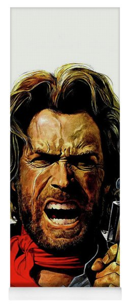 Yoga Mat featuring the mixed media Clint Eastwood As Josey Wales by David Dehner