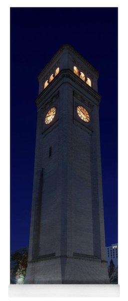 Clock Tower Spokane W A Yoga Mat