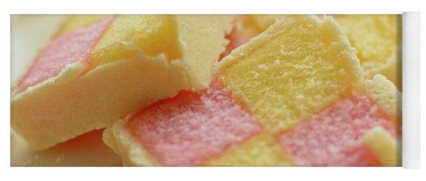 Close Up Of Battenberg Cake E Yoga Mat