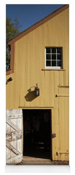 Close Up Of Landis Valley Yellow Barn Yoga Mat