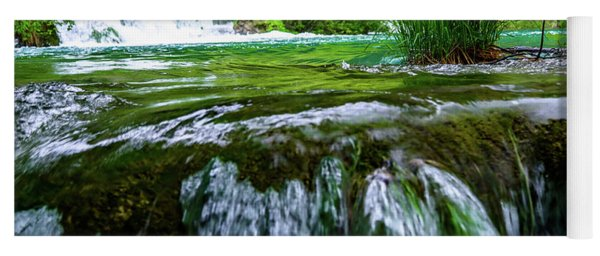 Close Up Waterfalls - Plitvice Lakes National Park, Croatia Yoga Mat
