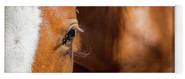 Closeup Horse Eye With Copy Space Yoga Mat